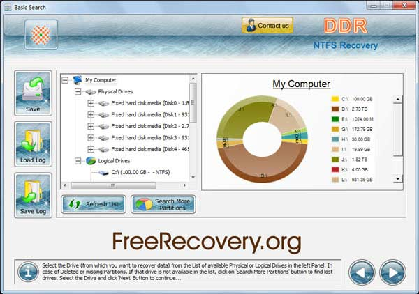 Windows 7 NTFS Recovery Software 4.0.1.6 full